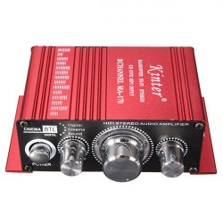 Mini 2CH Hi-Fi Stereo Amplifier Booster DVD MP3 Højttaler for Auto