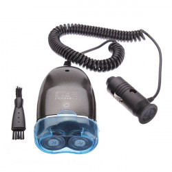 Mini Car Razor Electric Rechargeable Male Two Heads Bicyclic Shaver