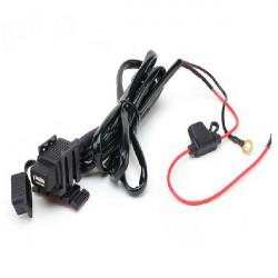 Motorcykel USB Power Laddare Kabel för iPad Mobil Power System