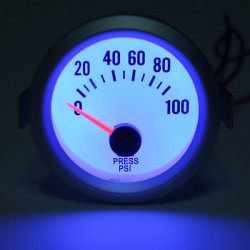 Neue elektrische Öldruckmesser White Face blaue LED