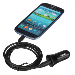 USB Port Plug Bil Oplader Adapter til iPhone Samsung Blackberry