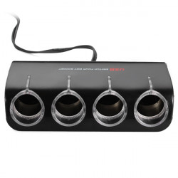 WF-072 4 Car Cigarette Lighter Socket With Switch + 1 USB Interface