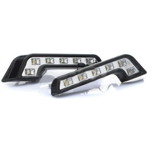 0.5W 6-LED White Light Car Daytime Running Lamps Car Lights