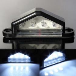 10-30V 4 LED bakre registreringsskylt lampa Lastbil Trailer Vattentät