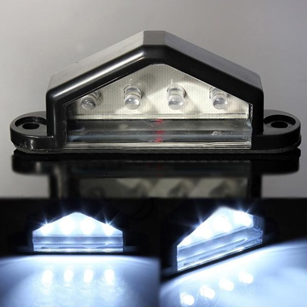 10 30V 4 LED Rückkennzeichenbeleuchtung Lampen LKW Anhänger Wasserdicht Autobeleuchtung
