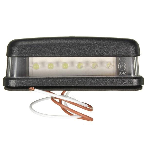 10-30V 6Led Vit License Number Plate Lights Truck Tail Trailer Lampa