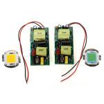 100W LED Vit High Power Lampa Chip Plus 100W Ström Driver Supply Bilbelysning