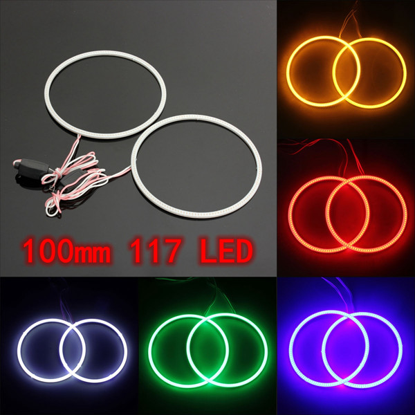 100mm COB Chip SMD Ljus Angel Eye Halo Ring Lampa för BMW Bilbelysning
