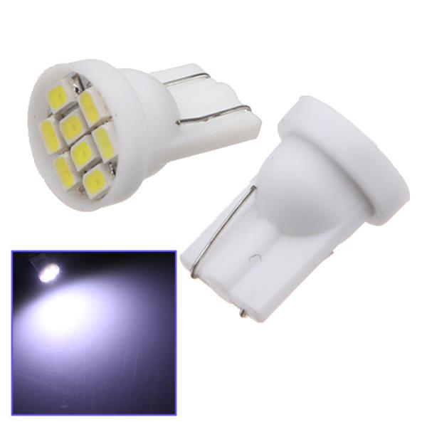 10X T10 8 LED SMD Vit Bil Bulb Wedge Sid Lampa Bilbelysning
