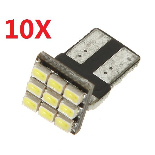 10X T10 9 SMD 194 168 501 W5W Hellweiß LED Wedge Autobeleuchtung