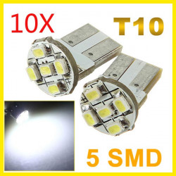 10X T10 Parker 2825 1206 5 LED Bil Wedge SMD Lampa Ljus Lampa 12V
