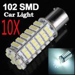 10 x 1156 White 102 SMD LED Turn Light Bulb Lamp