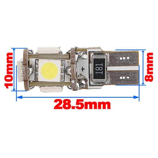 10xCanbus T10 194 168 W5W 5050 5 LED SMD Auto Seiten Keil Glühlampe 2021