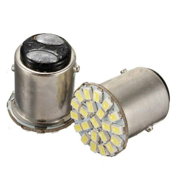 1157 BA15S 22-SMD Bil LED Baglygte Pærer Bulb Bright Hvid Bilbelysning