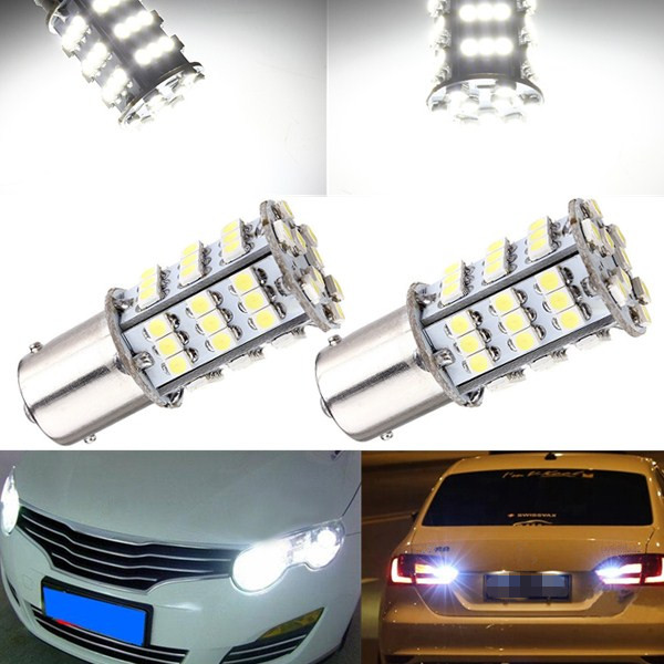 1210 SMD LED Vit Bil Sticka Svansen Mellan Benen Brake Stop Ljus Bulb Lampa 12V Bilbelysning