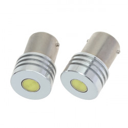 12V 1W 1156 High Power LED Car Light Bulb White+Warm White