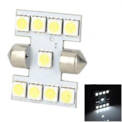 12V 1W 120lm 9-5050 SMD LED Bil Ljuss Bubls Skyltbelysning