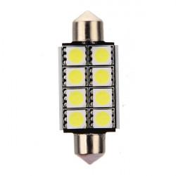 12V 2 mm 8 SMD 5050 LED weiß Canbus Girlande Roof Glühbirne
