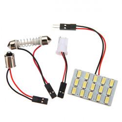 12V 5630 Bright Interior Panel LED Lights+ T10 BA9S Festoon Adapter