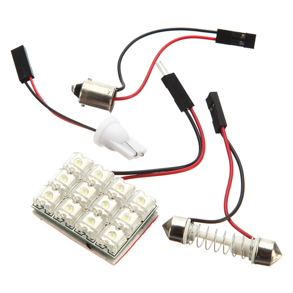 12V 6W 12 SMD LED Bilbelysning Bil Bulb Bil Taklykta Bilbelysning