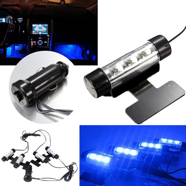 12V Auto Auto Innenraum Atmosphäre LED Licht 4in1 Glühen Dekoration Lampe Autobeleuchtung