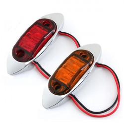 12V LED Side Mark Hell Anhänger LKW Begrenzungsleuchte DOT & SAE genehmigt