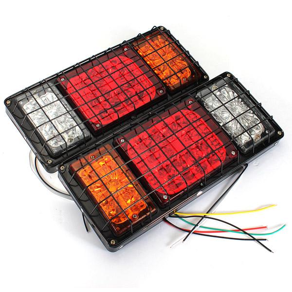 12V Par LED-baglygter til Ute Trailer Lastbil Caravan Baglygter Bilbelysning