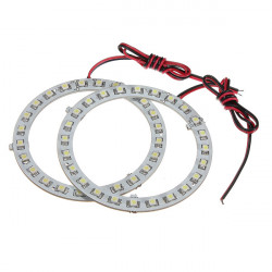 12V White Angel Eyes Headlight for BMW 24SMD LED Ring Car Light