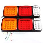 12v LED Tail Stoplygter Indikator Reverse Lights Trailer Bil Lastbil Bus Bilbelysning