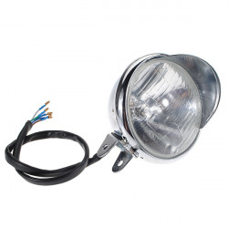 12v Universal Chrome Shiny Round Motorcycle Headlight