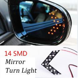 14LED Arrow Car Turn Light Brake Light Rearview Mirror Lamp
