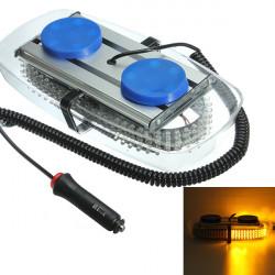 15W 240LED Strobe Amber Emergency Varning Mini Ljus Bar Magnetisk Base