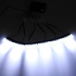18LEDs Flash Hvid Bil Emergency Lys 6 Bars Advarsel Advarselsblinking Auto Lamp