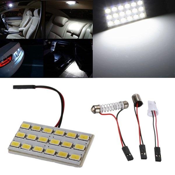 18 SMD 5630 T10 Bil LED Dome Dörr Box Ljus Panel Interior Bulb Bilbelysning