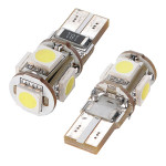 1PC Canbus T10 194 168 W5W 5050 5 LED SMD Car Side Wedge Light Bulb Car Lights
