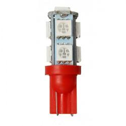 1PC Bil T10 Red 5050 9SMD LED-lampa Ljus Lampa DC 12V