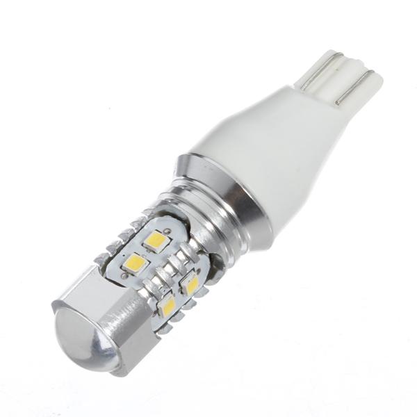 1PC T15 10W 360LM 2323 SMD 10LED Ljus Bil Fordon Lamp Bulb Vit Bilbelysning