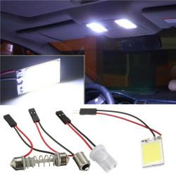 1W COB 18Chip LED Hvid Interiør Lys Panel T10 Festoon Bil Pæree