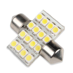 1 X Vit Dome 16 LED 3528 SMD Inredning Lampa Ljus 31mm