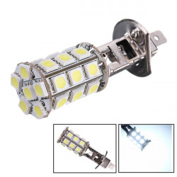 1pc 5W H1 Pure White Xenon HID 5050 27-SMD LED Fog Running Light Bulb