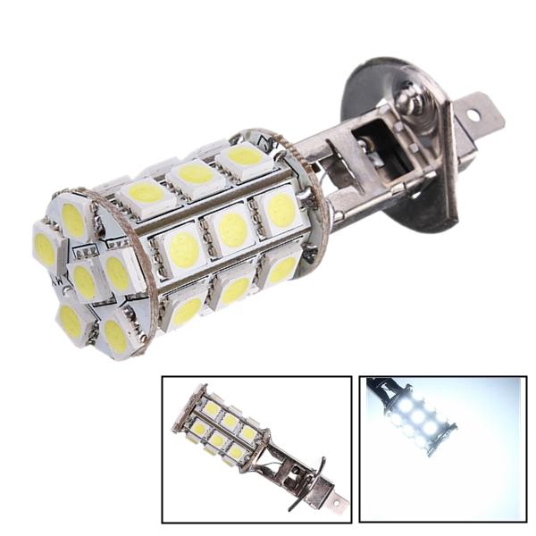 1pc 5W H1 Pure Vit Xenon HID 5050 27-SMD LED Dimljus Running Ljus Bulb Bilbelysning