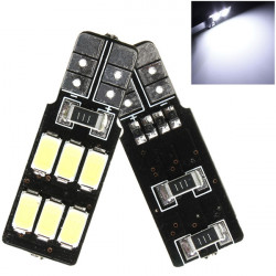 1st T10 194 168 W5W 6 SMD 5630 LED Bil Canbus Wedge Ljus Bulb Vit
