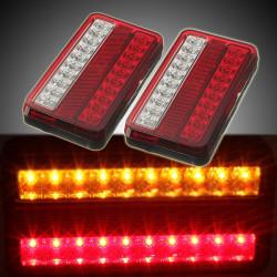 20 LED Bil Trailer Lastbil Bakre Bromsljus Stopljus Indikatorlampa