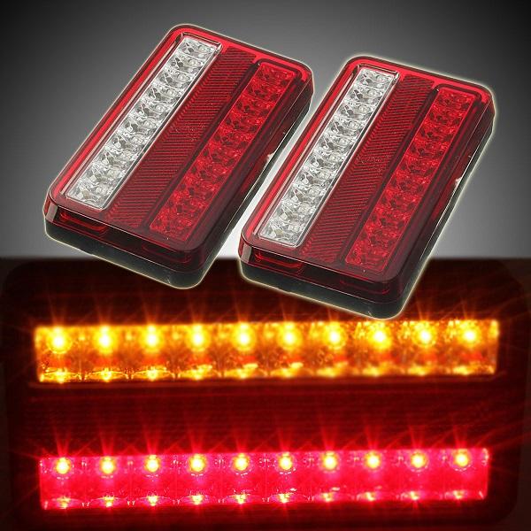 20 LED Bil Trailer Lastbil Bakre Bromsljus Stopljus Indikatorlampa Bilbelysning