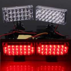 22 LED DRL Ljus Blinkande Emergency Warning Strobe Lampor