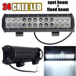 24Cree LED 12Flood 12Spot Combo Work Ljus Bar Lampa för Bil 72W