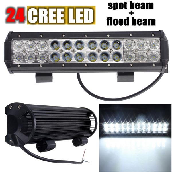 24Cree LED 12Flood 12Spot Combo Work Light Bar Lampe für Auto 72W Autobeleuchtung