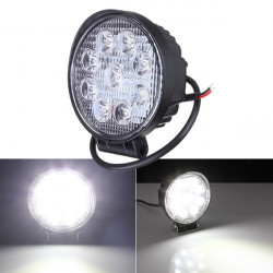 27W Auto 9LED Runde Arbeits Licht Helle Lampen Weiß für Lager LKW ATV