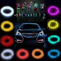 2M Flash Flexible Neon Ljus Glow El Strip Tube Wire Rope