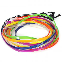 2M Flexible Bil EL Wire Neon Lys Dance Festival med Controller